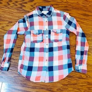 Label of Graded Goods H&M plaid Long Sleeve Sz 2